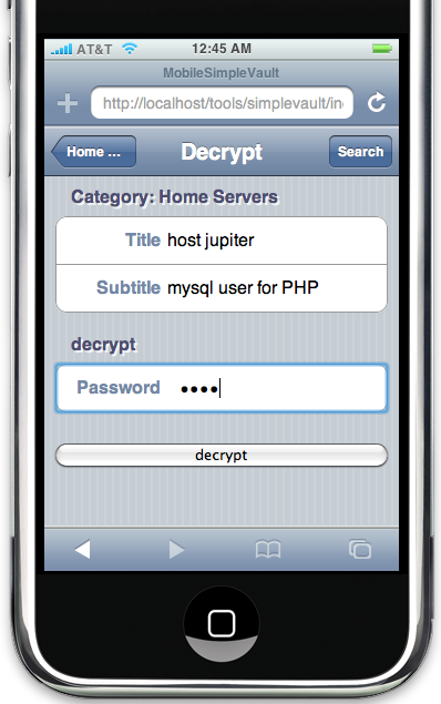 SimpleVault Password Manager: Documentation